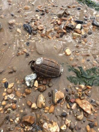 Dovercourt beach to be closed after grenade discovery