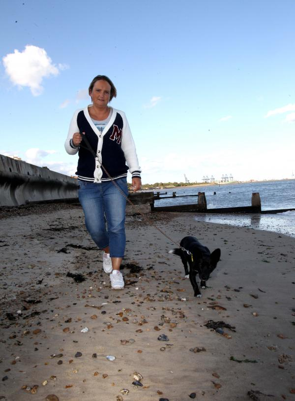 Dog walker's shock at grenade find