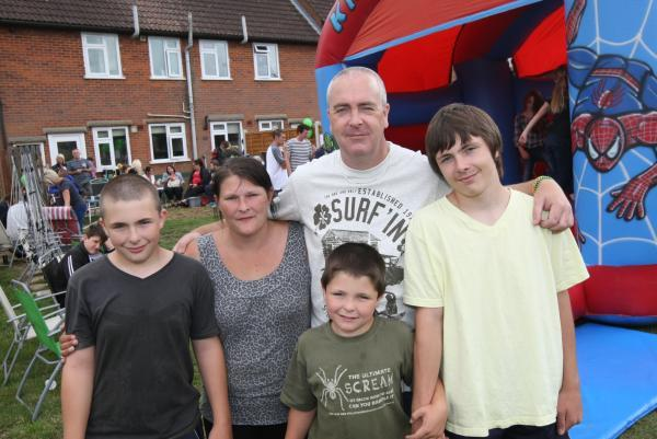 Boys organise charity party for terminally ill dad
