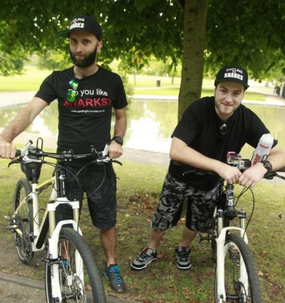 Pair to cycle from Colchester to Denmark ... to raise money for sharks