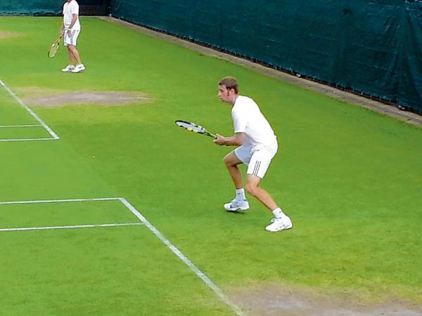 Debut to remember - Leon Jennings enjoyed his experience at the British Veterans' Grass Court Championships.