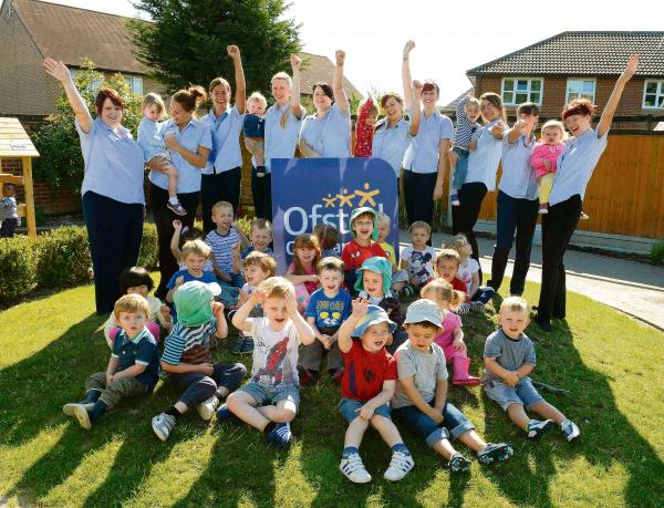Nursery celebrates outstanding report