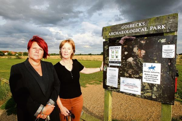 Councillors Sue Lissimore and Pauline Hazell are concerned over how money is being spent at Gosbecks Archeological Park