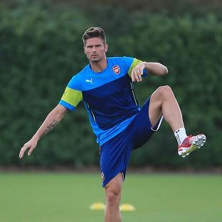 Arsenal's Olivier Giroud picked up an injury in the 2-2 draw aga