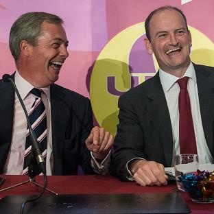 Gazette: UKIP leader Nigel Farage (left) with Douglas Carswell who has defected from the Conservatives
