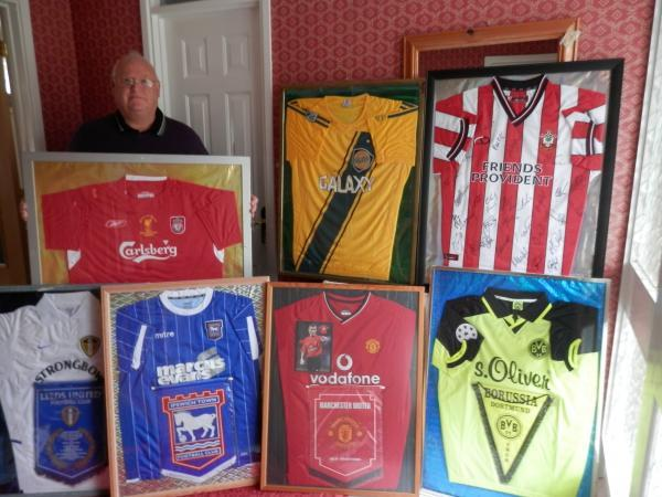 Former football manager set to auction off signed football shirts