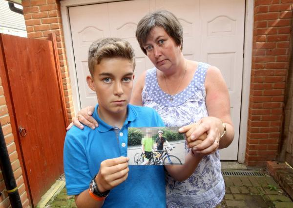 Amanda Garvey with son Conor whose bike was stolen