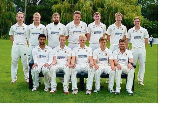 Memorable season - Colchester and East Essex have won promotion from Shepherd Neame Essex League division one (not in picture: Greg Stephens, Fred Clark and Alex Young).