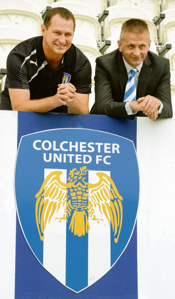 New era - Tony Humes (left) is preparing to take charge of his first game as Colchester United manager. Picture: STEVE BRADING