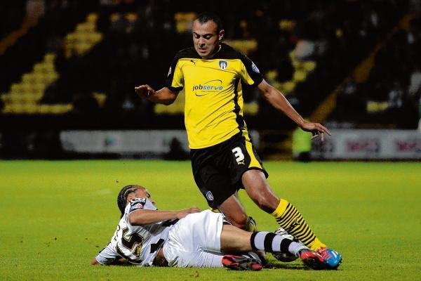Concern - Ben Gordon went off with a rib injury in the final stages of the U's game at Walsall. Picture: RICHARD BLAXALL