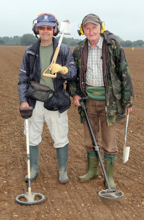 Metal detectorists begin their search for historic treasures