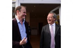 No love lost - Douglas Carswell and Nigel Farage celebrating in 2014 when Carswell became UKIP's first elected MP in 2014