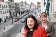 In the market for change – council leader Anne Turrell and enterprise and tourism development manager Karen Turnbull