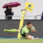Gazette: Northampton's James Wilson scored the opening try of the game against Saracens