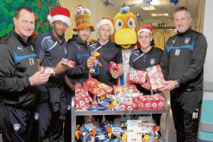 U's stars bring cheer to the children's ward