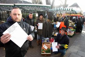 Street traders' fury at eviction and huge rent rise at new site