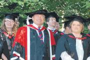 Plea – Alan Titchmarsh with Writtle College graduates. The college provides agriculture students with the specialist knowledge and practical skills required for a rewarding career