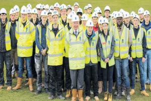 Building apprentices get top  tips from construction boss