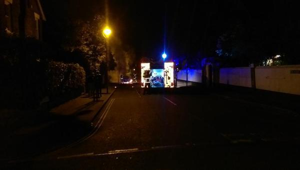 Car set on fire in Colchester street