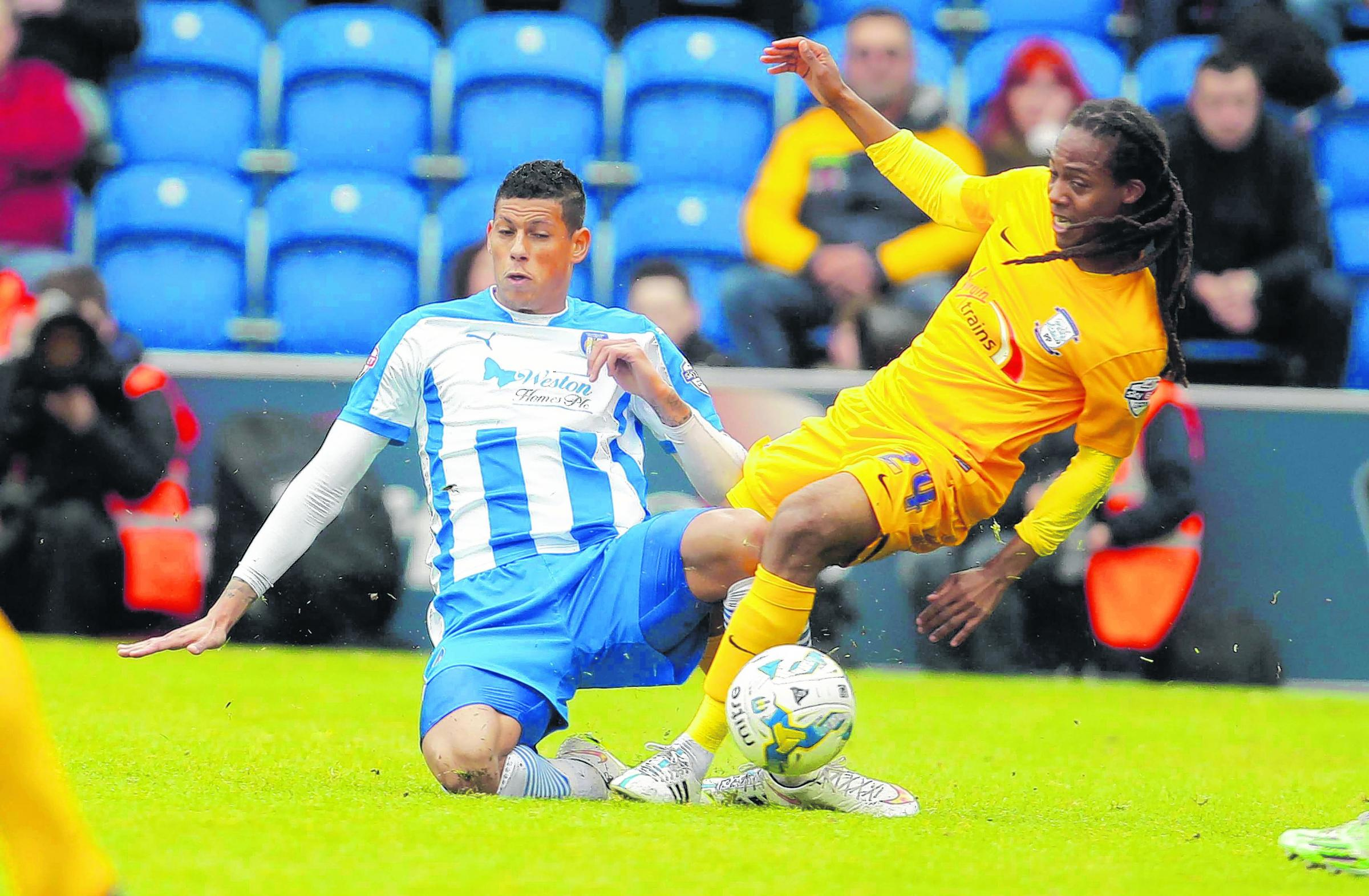 Target - Matthew Briggs is one of the players on Colchester United manager Tony Humes' wish list. Picture: SEANA HUGHES (CO105376-098)
