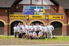 Braintree MP James Cleverly (far right) joined Braintree Rugby Club members at last weekend's Natwest RugbyForce event.