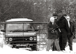 Murder scene - the three men were found dead in a Range Rover in Workhouse Lane, Rettendon in December 1995.