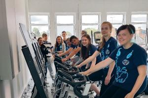 15 teens pedal to raise pounds