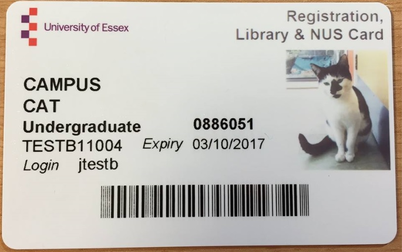 Cam-puss kitty gets his own NUS card
