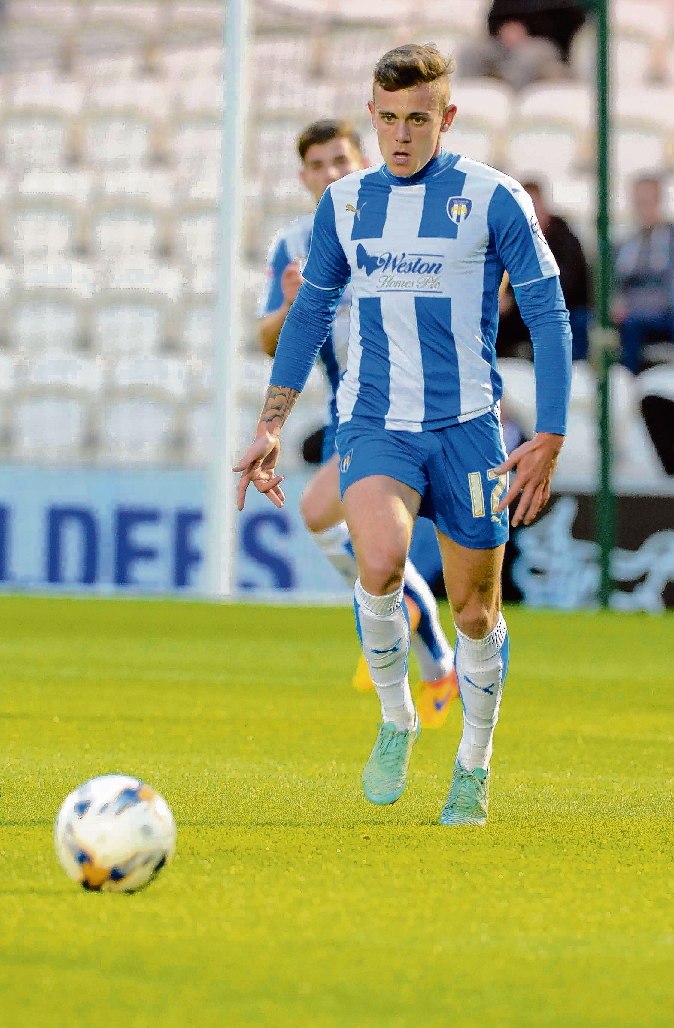 Hoping to return soon - Sammie Szmodics has not featured for Colchester United since last December because of a foot injury. Picture: STEVE BRADING (CO108873_01)