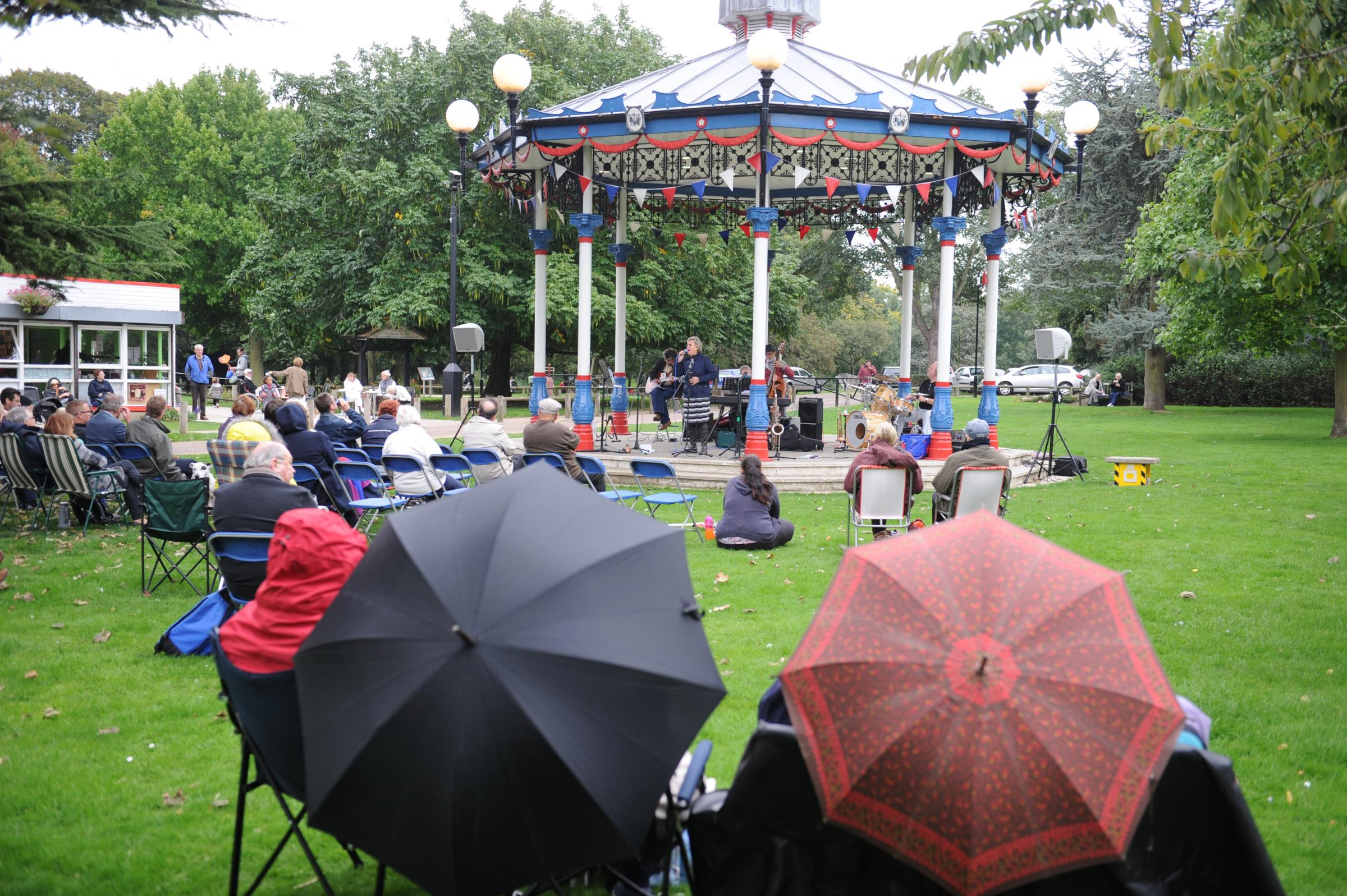Festive fun – a previous concert at the bandstand