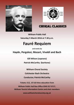 An Evening of Choral Classics