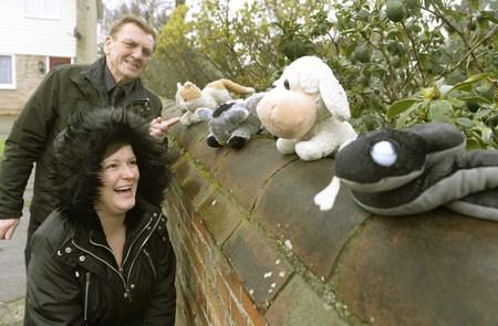 On a bear hunt: Mystery toy fan bemuses residents by scattering teddy bears round estate
