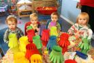 Monkey masks and messy food tables to celebrate Chinese New Year at the Busy Bees Nursery