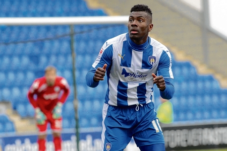 Staying put - Femi Akinwande has signed a new one-year contract with Colchester United.