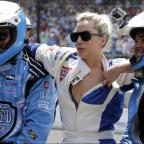 Gazette: Lady Gaga goes for a drive with Mario Andretti at the Indy 500