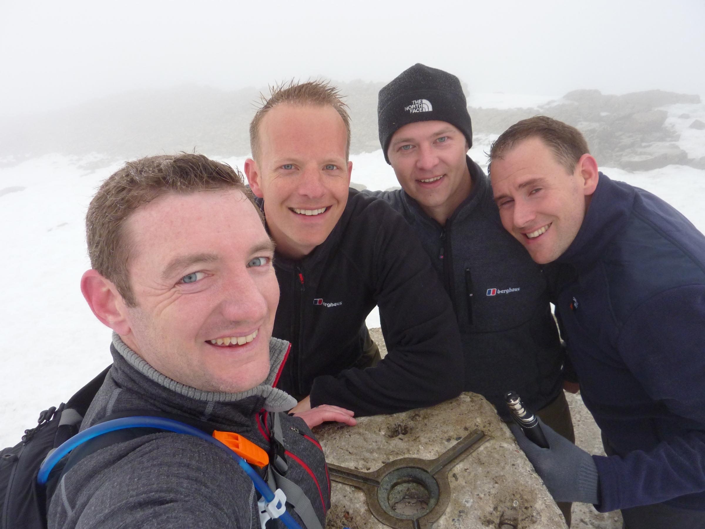Friends at the top of Ben Nevis