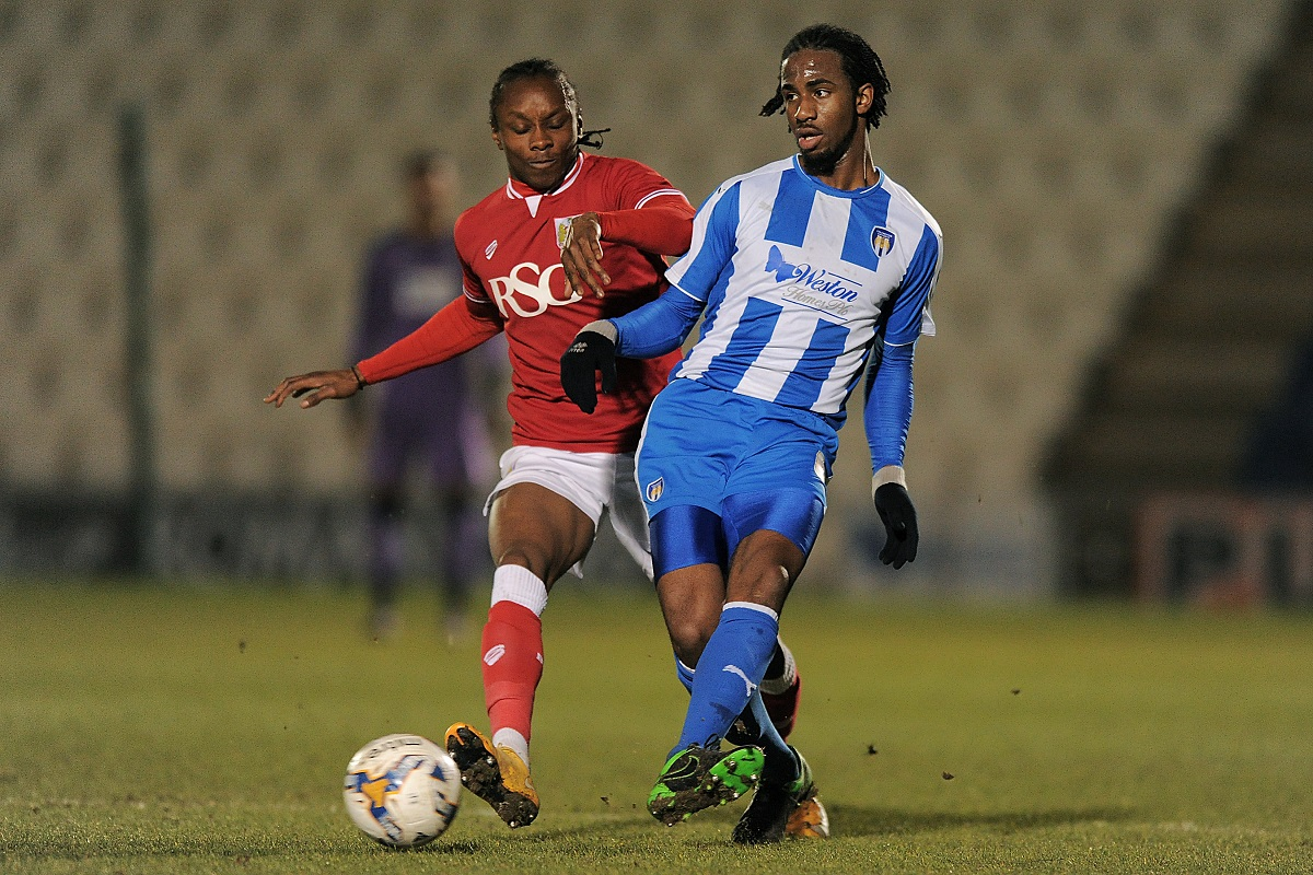 New recruit - Dexter Peter has signed for Colchester United on a one-year deal after impressing while on trial last season. Picture: RICHARD BLAXALL/WWW.CU-FC.COM