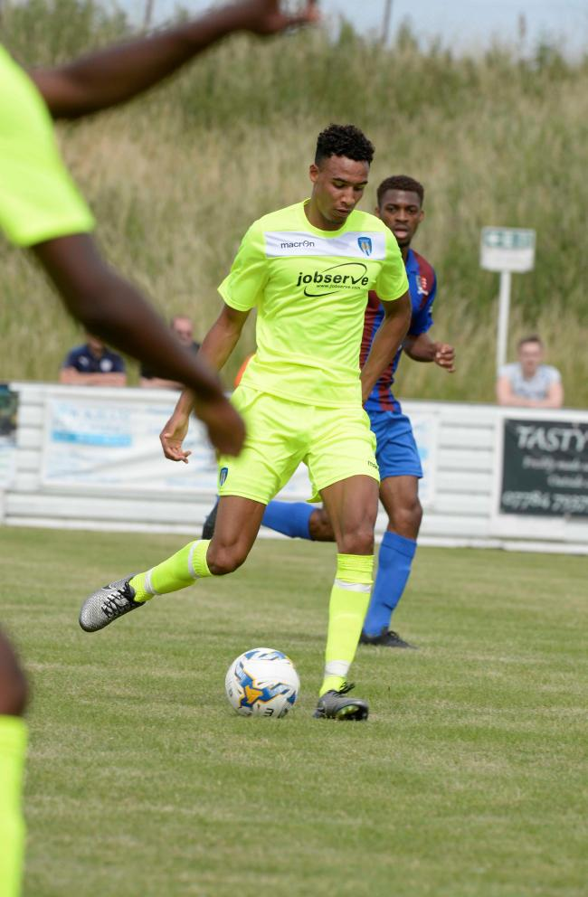 On target - Kurtis Guthrie scored in Colchester United's friendly win at Airbus UK Broughton. Picture: STEVE BRADING