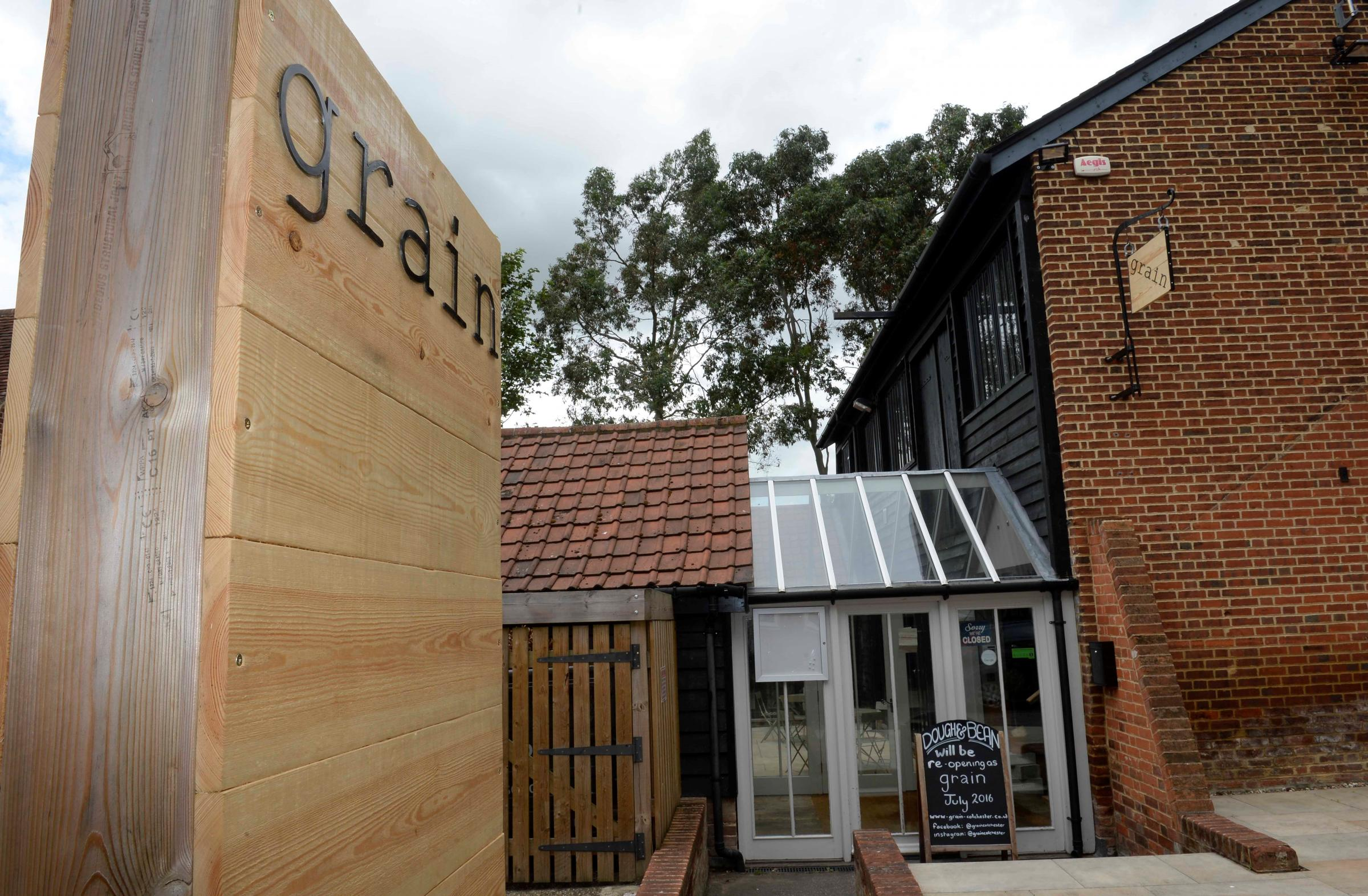 New, Grain, Restaurant in North Hill Colchester..