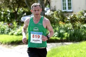 Leading the way - Allen Smalls was first home for Colchester Harriers at the London Marathon