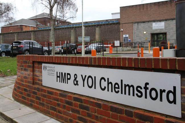 A sign outside HMP Chelmsford