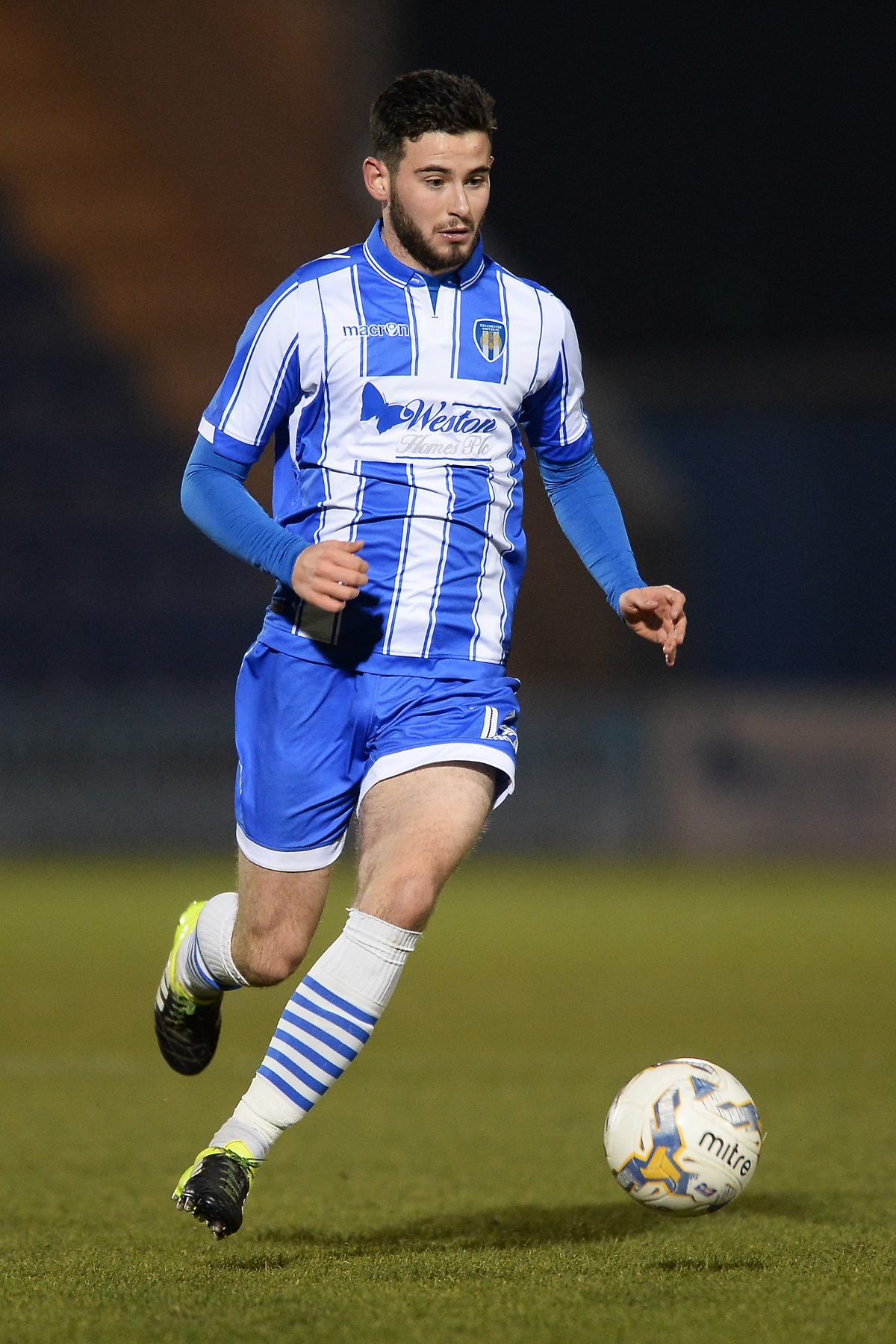 Signing up - Charley Edge has penned a new one-year contract with Colchester United