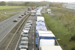 Two lorries in five vehicle crash on A12