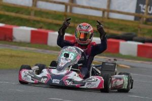 Great start - Louie Westover was victorious in the opening round of this year's Super One British Karting Championship