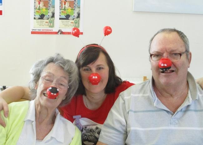 Music-loving care home residents enjoy a sing-along for Red Nose Day