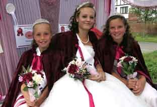 Walton carnival queen Emma Frost, with princesses Lydia Parsley and Hannah Duffy.