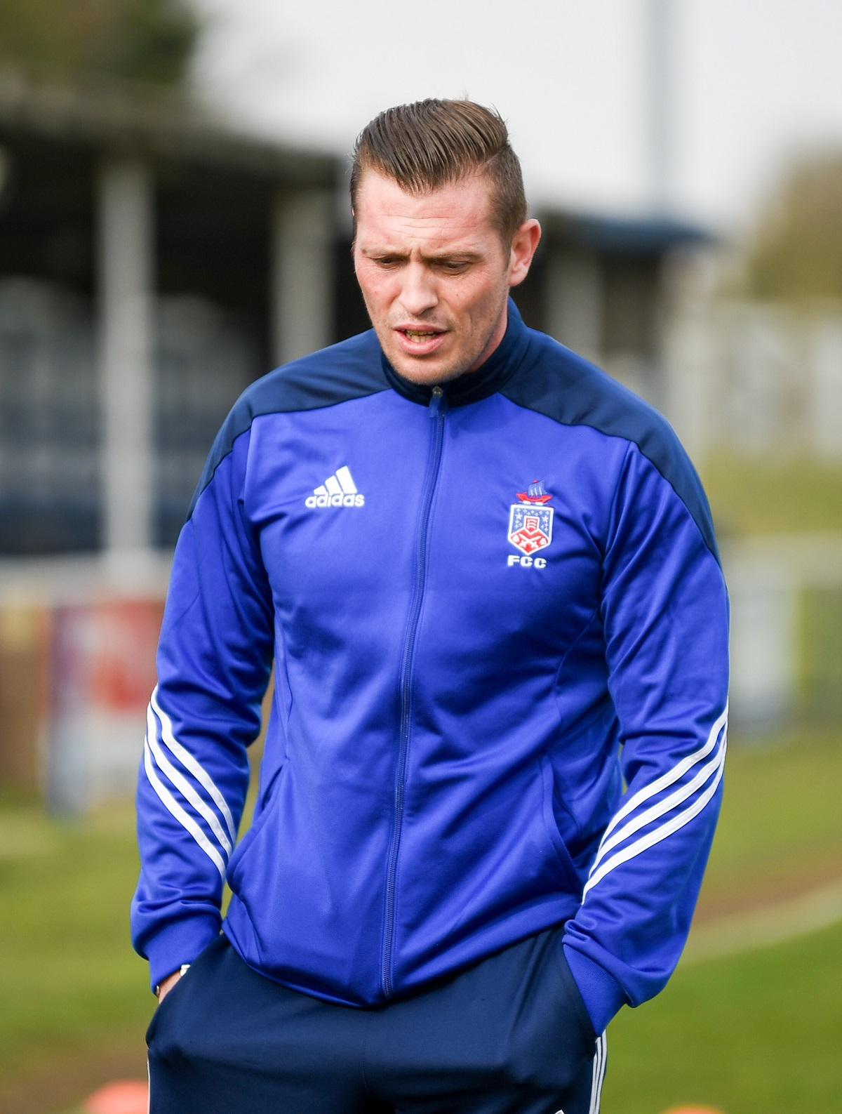 Former FC Clacton manager Kieron Shelley, who is taking over at Harwich and Parkeston