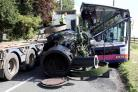 Lorry driver who admitted dangerous driving after steam engine fell onto bus to be sentenced
