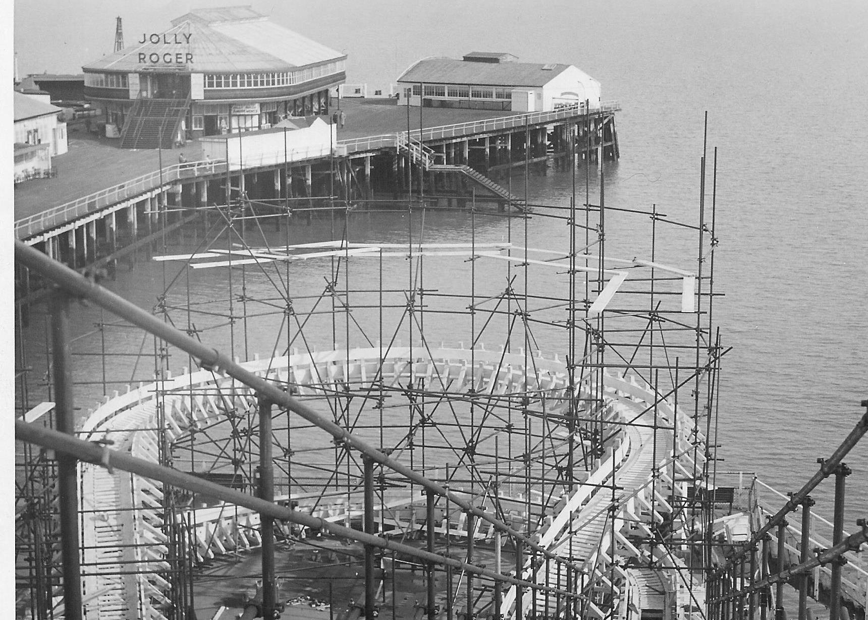 HEYDAY: The Jolly Roger in its heyday at the end of Clacton Pier