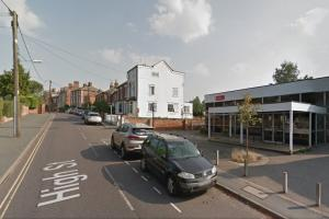 Scene - Wivenhoe Library where onlookers witnessed the crash. Picture: Google